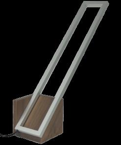 Mondrian Tavolo Grande Noce Acciaio Spazzolato