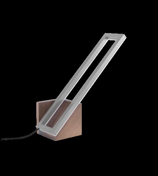 Foris Illuminazione - Mondrian Tavolo Piccola Noce Acciaio spazzolato