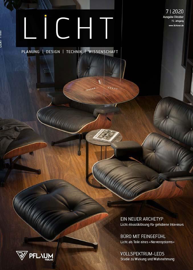 COVER LICHT MAGAZINE SETTEMBRE-OTTOBRE 2020 - FORIS