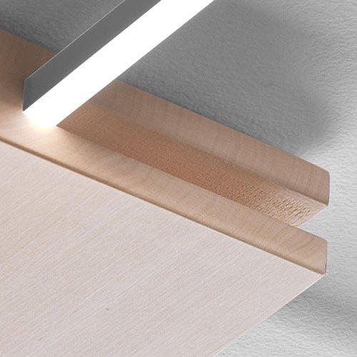 Close up dettaglio in Tiglio - finitura lampade Foris