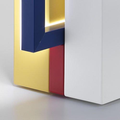 Omaggio a Mondrian Lampada Foris dettaglio