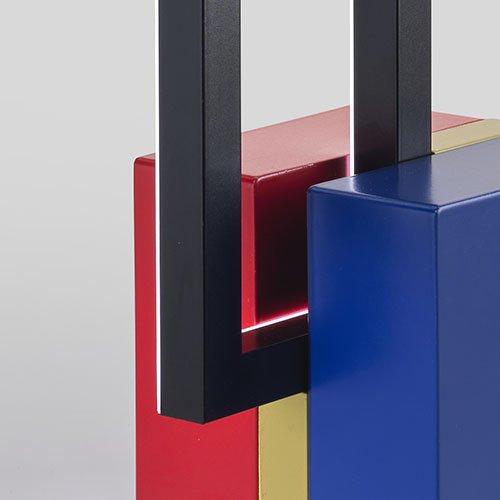 Omaggio a Mondrian Lampada Foris dettaglio incastro