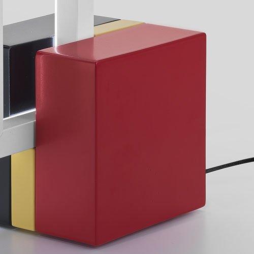 Omaggio a Mondrian Lampada Foris dettaglio base colorata