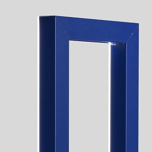 Omaggio a Mondrian Lampada Foris dettaglio cornice blu